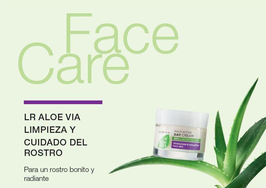 Cuidado del rosto con Lr Aloe Vera